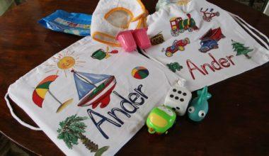 Tutorial cómo pintar una mochila con pintura Sosoft Americana DecoArt