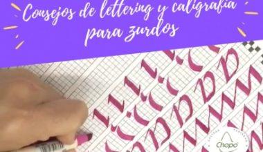 Cómo hacer lettering y caligrafía para zurdos consejos, trucos y secretos!