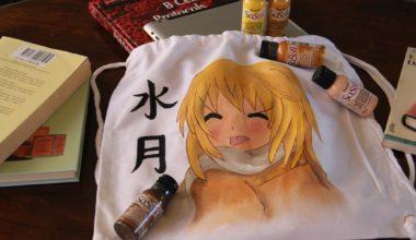 Cómo pintar una bolsa de tela estilo manga con pintura Sosoft