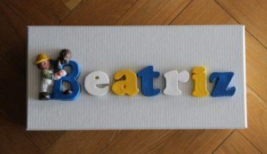DIY Letras pintadas personalizadas