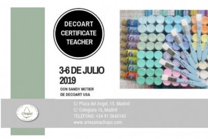 DecoArt Spain Certified Teacher en Artesanía Chopo