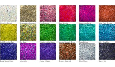 Galaxy Glitter brilla y brilla con su gama de 18 colores
