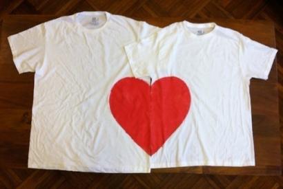 Ideas de pintura en tela para San Valentín