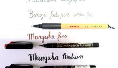Kuretake Zig bimoji y mangaka para lettering y caligrafía