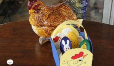 La cesta de los huevos de Pascua