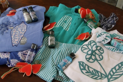 Pintar ropa para verano con pintura Sosoft de DecorArt es muy fácil