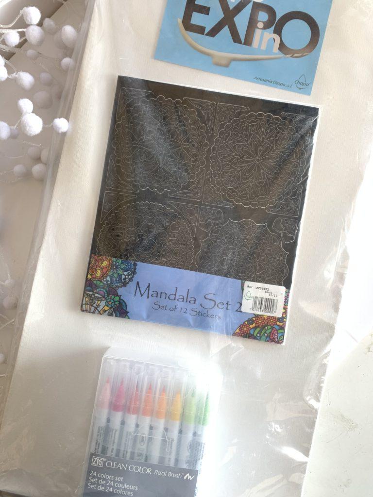 Kit Mandala+Lienzo+Clean Color